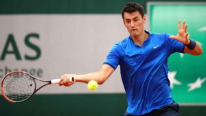 Bernard Tomic defeats Brian Baker in the first round.